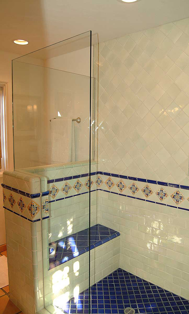 tile setting bathroom remodel